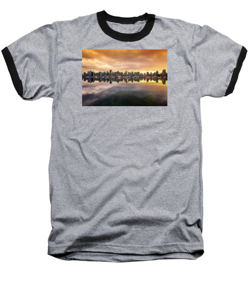 Baseball T-Shirt featuring the photograph Vancouver Reflections by Eti Reid