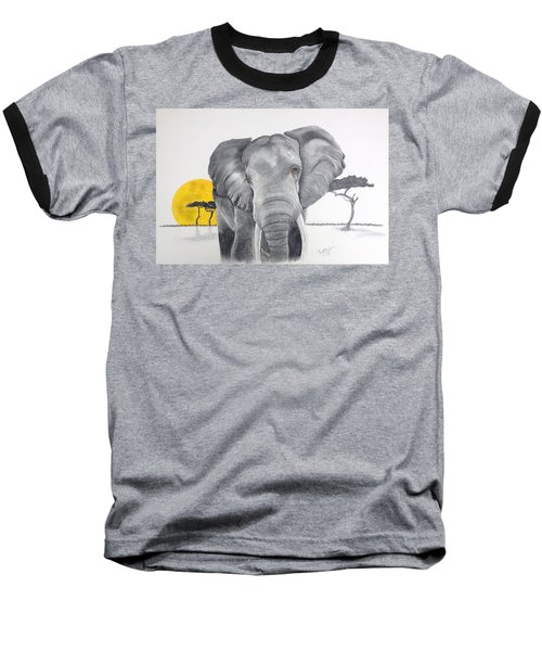 Vanishing Elephant Baseball T-Shirt