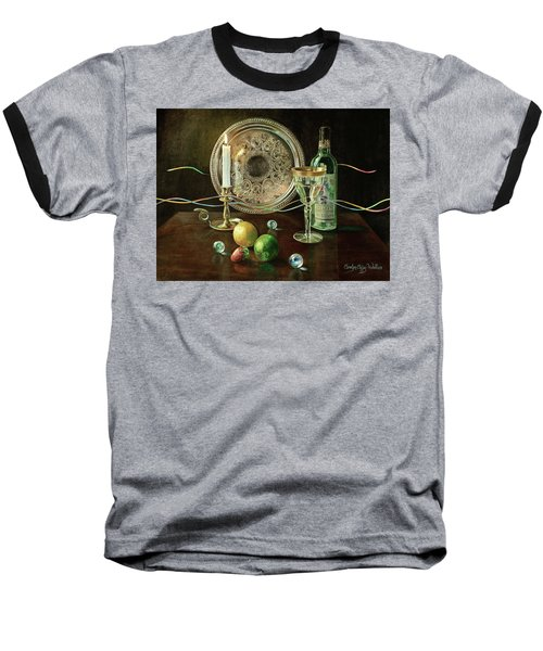 Vanitas Still Life By Candlelight With Les Bourgeois Wine Baseball T-Shirt