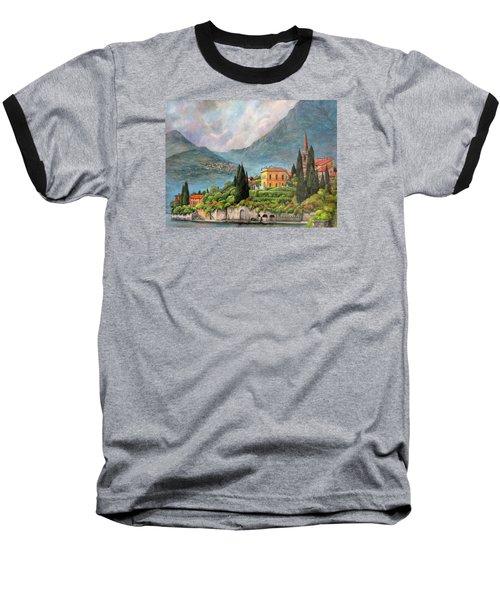Varenna Italy Baseball T-Shirt by Donna Tucker