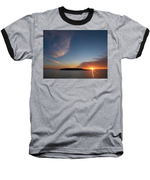 Baseball T-Shirt featuring the photograph Variations Of Sunsets At Gulf Of Bothnia 2 by Jouko Lehto