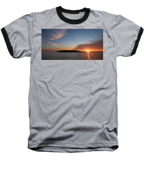 Baseball T-Shirt featuring the photograph Variations Of Sunsets At Gulf Of Bothnia 3 by Jouko Lehto
