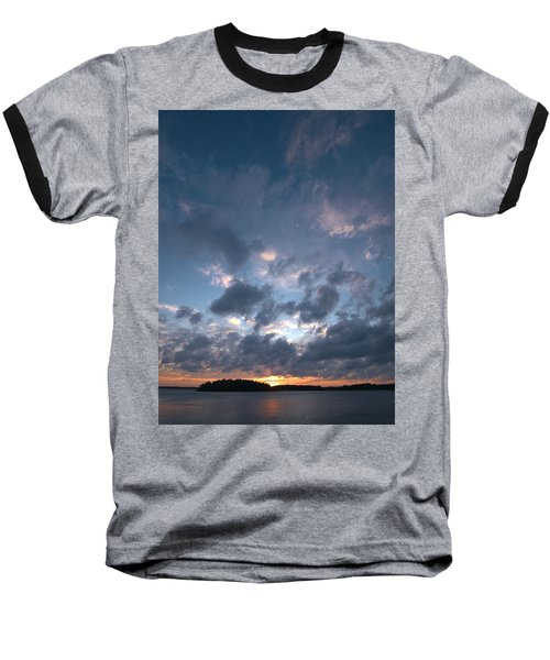 Baseball T-Shirt featuring the photograph Variations Of Sunsets At Gulf Of Bothnia 5 by Jouko Lehto