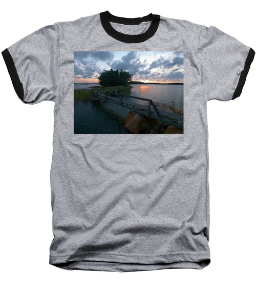 Baseball T-Shirt featuring the photograph Variations Of Sunsets At Gulf Of Bothnia 6 by Jouko Lehto