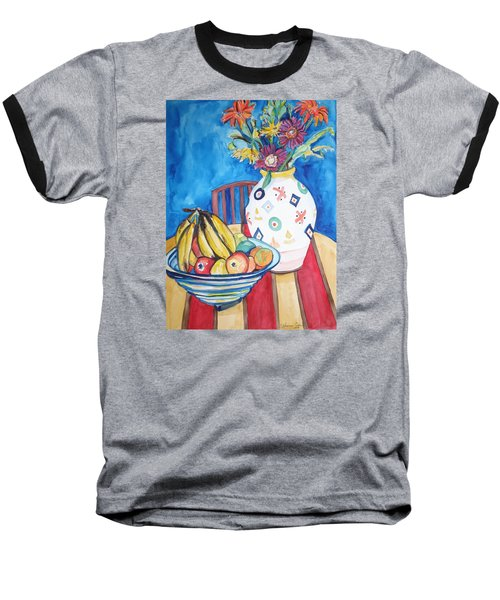 Vase And Bowl Baseball T-Shirt by Esther Newman-Cohen