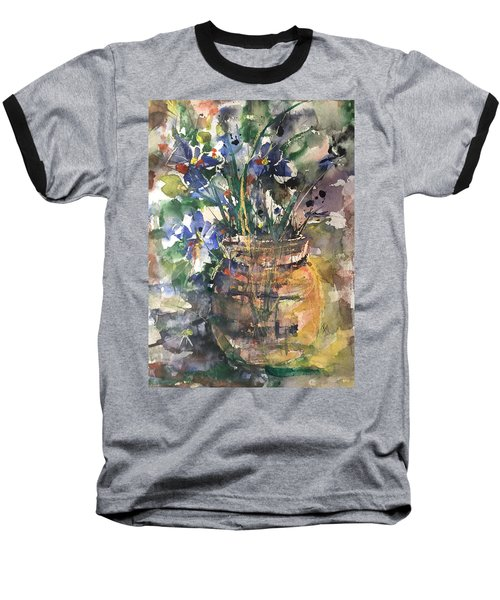 Vase Of Many Colors Baseball T-Shirt by Robin Miller-Bookhout