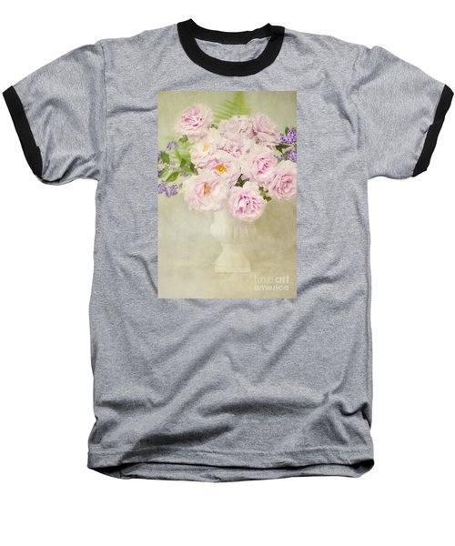 Vase Of Pink Roses Baseball T-Shirt