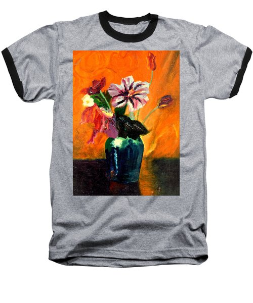 Vase With Flowers Baseball T-Shirt