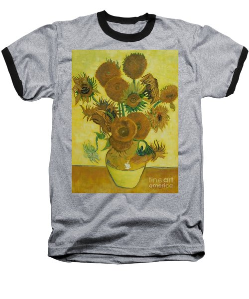 Vase Withfifteen Sunflowers Baseball T-Shirt