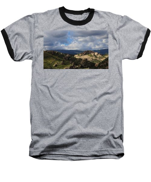 Vasquez Rocks Natural Area Baseball T-Shirt by Viktor Savchenko