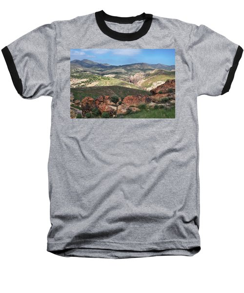 Vasquez Rocks Park Baseball T-Shirt by Kyle Hanson