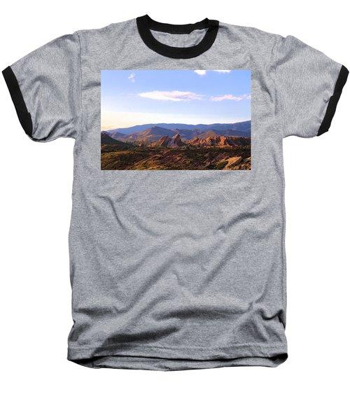 Baseball T-Shirt featuring the photograph Vasquez Rocks Sky And Stones by Viktor Savchenko