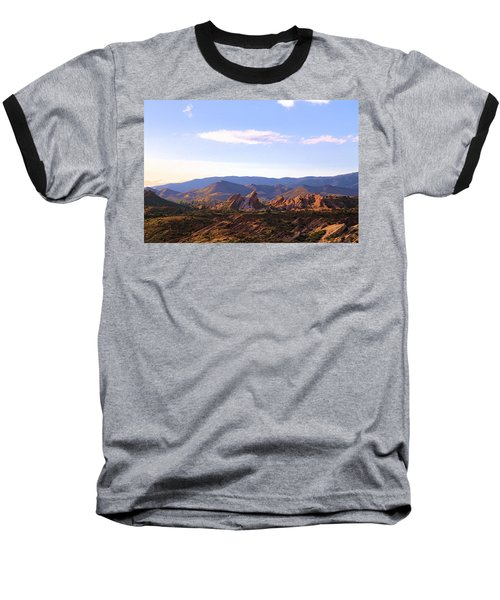 Vasquez Rocks Sky And Stones Baseball T-Shirt