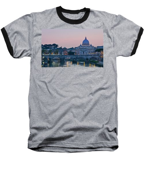 Vatican City At Sunset Baseball T-Shirt