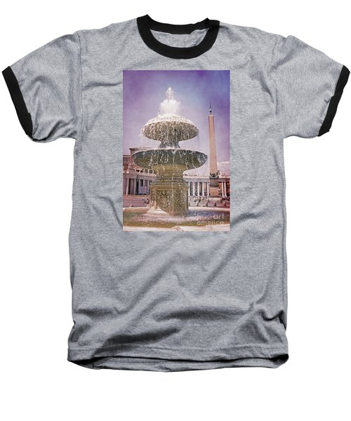 Vatican City Fountain Baseball T-Shirt