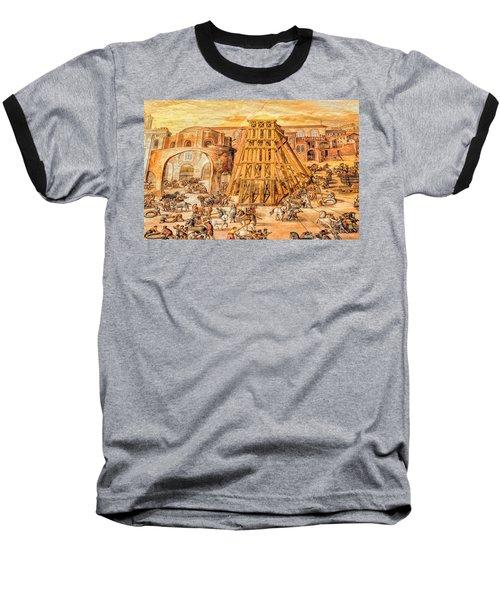 Vatican Obelisk Baseball T-Shirt by Nigel Fletcher-Jones