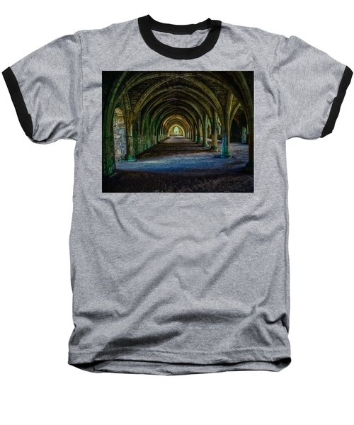 Vaulted, Fountains Abbey, Yorkshire, United Kingdom Baseball T-Shirt