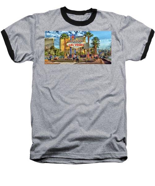 Baseball T-Shirt featuring the photograph Vegasstrong by Michael Rogers