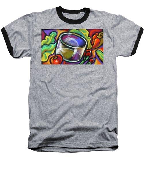 Vegetarian Food Baseball T-Shirt by Leon Zernitsky