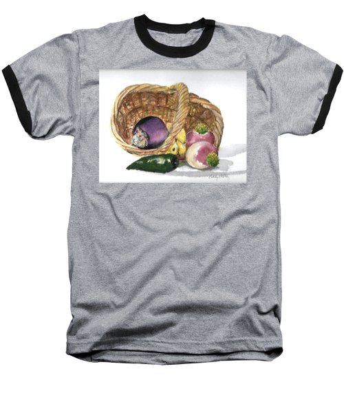 Veggie Basket Baseball T-Shirt