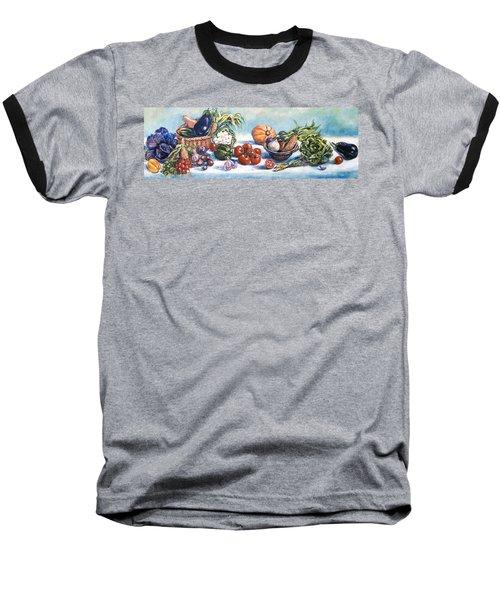 Veggies  Baseball T-Shirt by Alexandra Maria Ethlyn Cheshire
