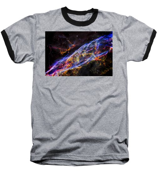 Veil Nebula - Rainbow Supernova  Baseball T-Shirt
