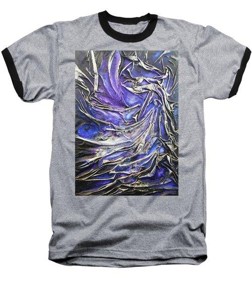 Veiled Figure Baseball T-Shirt by Angela Stout