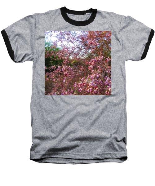 Vekol Wash Desert Ironwood In Bloom Baseball T-Shirt