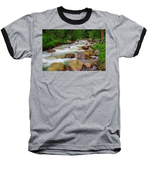 Baseball T-Shirt featuring the photograph Velvet Green Forest by Tim Reaves