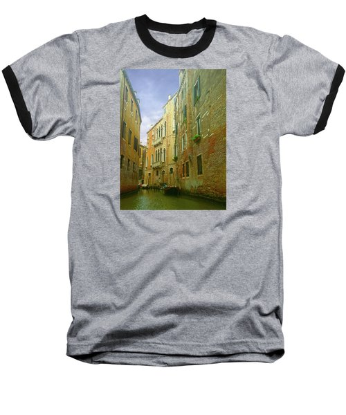 Baseball T-Shirt featuring the photograph Venetian Canyon by Anne Kotan