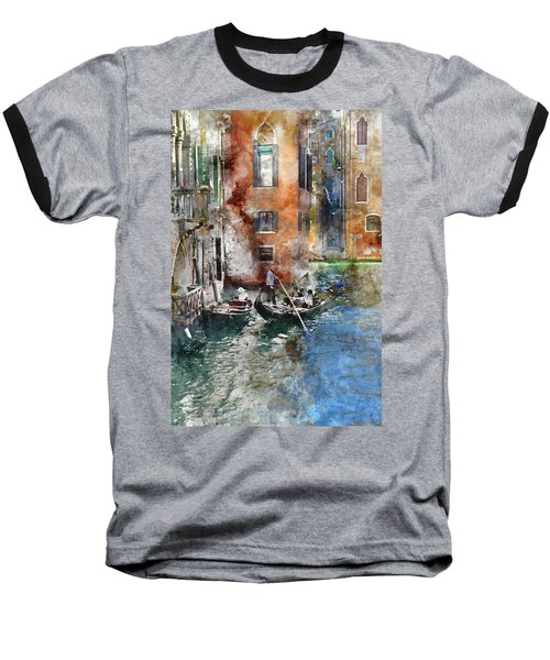 Venetian Gondolier In Venice Italy Baseball T-Shirt