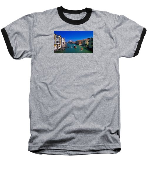 Baseball T-Shirt featuring the photograph Venetian Highway by Anne Kotan