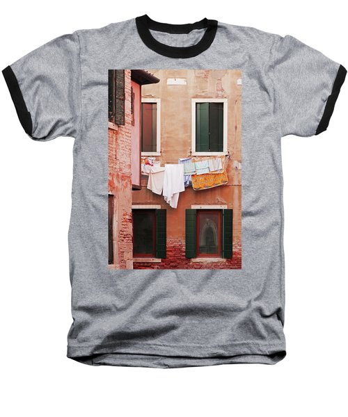 Venetian Laundry In Peach And Pink Baseball T-Shirt