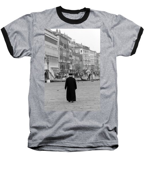 Venetian Priest And Gondola Baseball T-Shirt