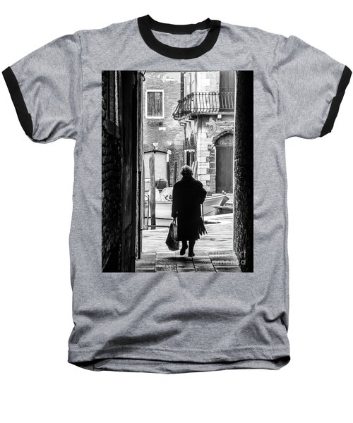 Venetian Silhoutte Lady Baseball T-Shirt