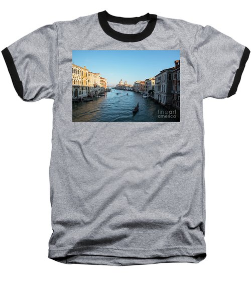 Venetian View  Baseball T-Shirt by Yuri Santin