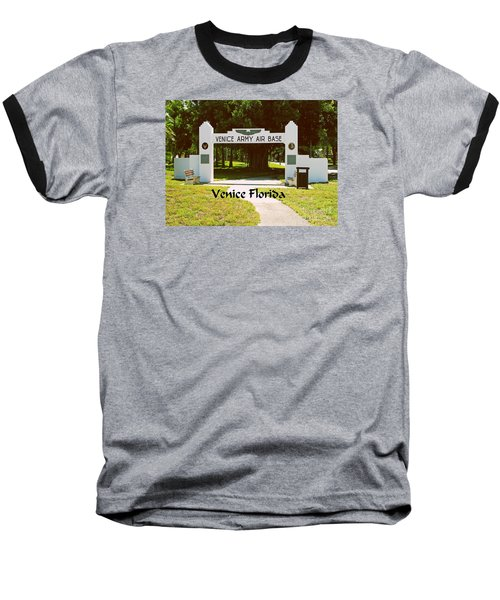 Baseball T-Shirt featuring the photograph Venice Army Air Force by Gary Wonning