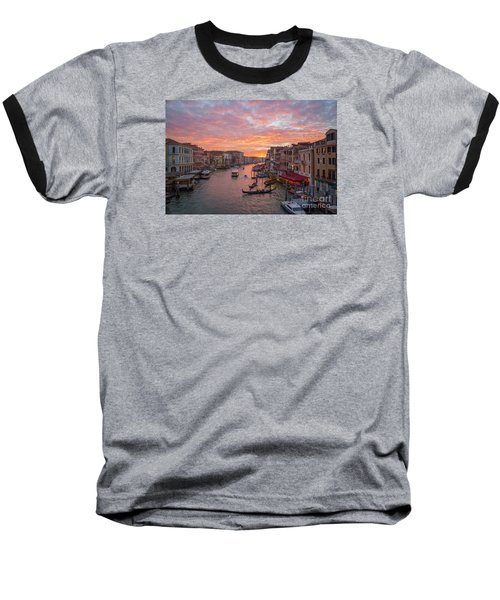 Venice At Sunset - Italy Baseball T-Shirt