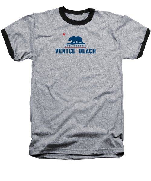 Venice Beach La. Baseball T-Shirt by Lerak Group LLC