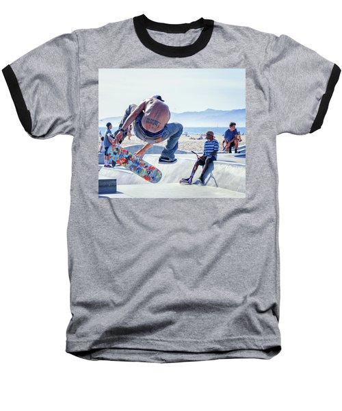 Venice Beach Skater Baseball T-Shirt