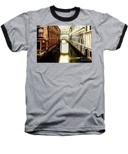 Venice Bridge Of Sighs Baseball T-Shirt