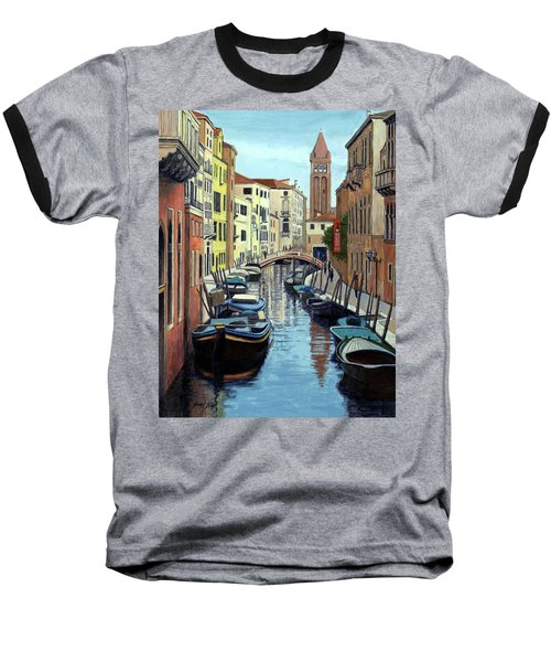 Venice Canal Reflections Baseball T-Shirt by Janet King