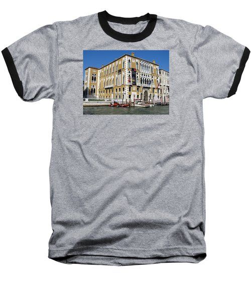 Venice Canal Building Baseball T-Shirt