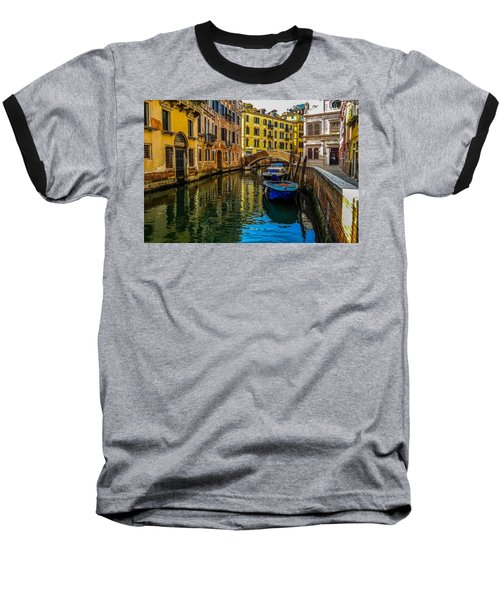 Venice Canal In Italy Baseball T-Shirt by Marilyn Burton