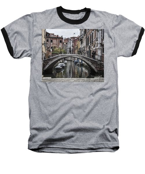 Baseball T-Shirt featuring the photograph Venice Crossing by Shirley Mangini