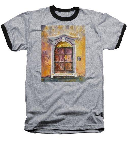 Venice Door Baseball T-Shirt by Lisa Boyd