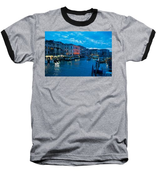 Baseball T-Shirt featuring the photograph Venice Evening by Eric Tressler