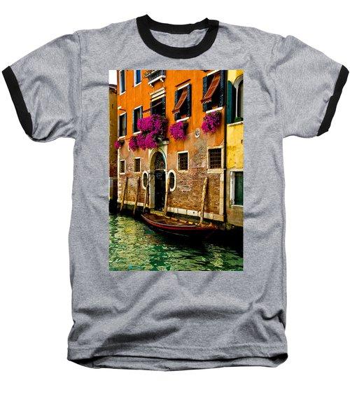 Venice Facade Baseball T-Shirt by Harry Spitz