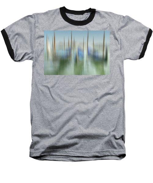 Venice Gondolas Impression 1 Baseball T-Shirt by Marty Garland