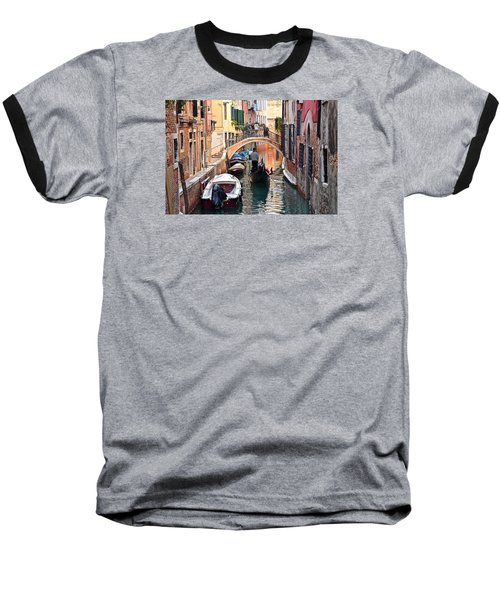 Venice Gondolier Baseball T-Shirt by Frozen in Time Fine Art Photography